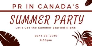 PR In Canada - Summer Party