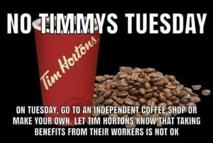 No Timmys Tuesday