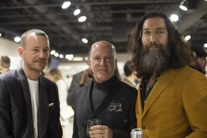 Christoffer Lundman (Tiger of Sweden Creative Director) Steven Slavin (President of Slavin Raphael), and Avi Raphael (Partner at Slavin Raphael)