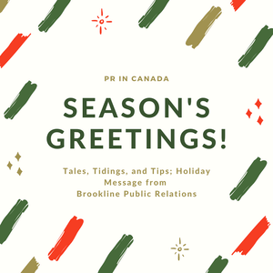 Holiday Message - Brookline Public Relations